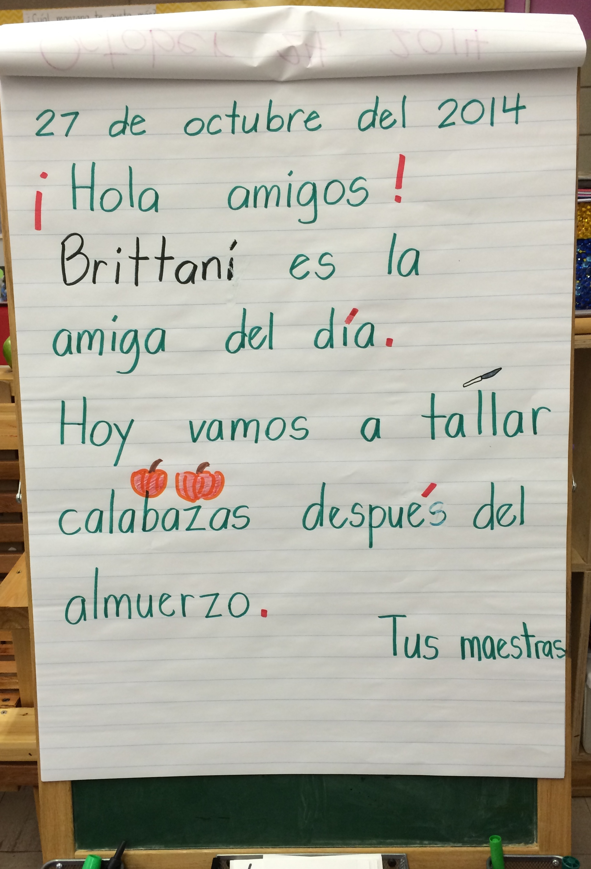 The beginning of kindergarten is a special time for children and for work in each language on classroom walls consider how much of each language is displayed kristyandbryce Image collections