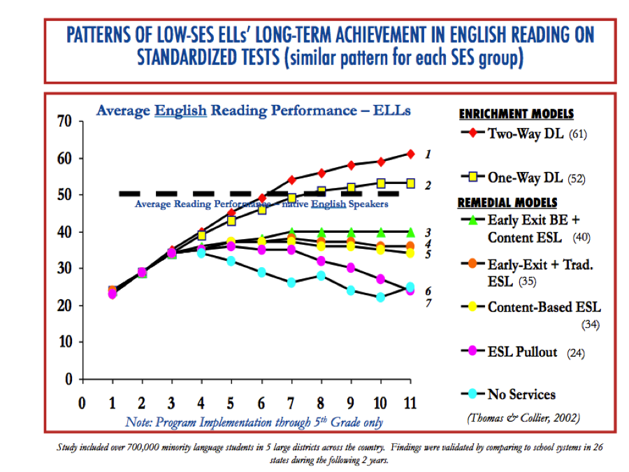 Long-Term Achievement Patterns in English Reading on Standardized Tests
